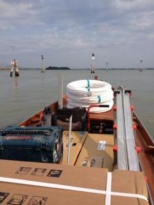 traghettamento Blu Service per installazione impianto a Venezia