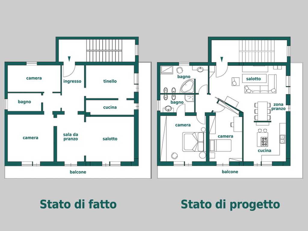 Progetto ristrutturazione appartamento tg81 pineglen Esempi di ristrutturazione appartamento